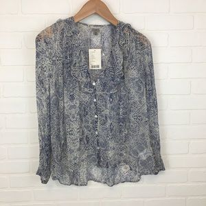 Ecote Urban Outfitters Flowy Paisley Print Blouse